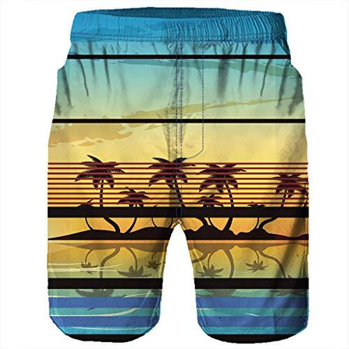 NUWFOR Men Casual 3D Graffiti Printed Beach Work Casual Men Short Trouser Shorts Pants(Multi Color,US:M Waist9.9-33.9'') by NUWFOR (Image #2)
