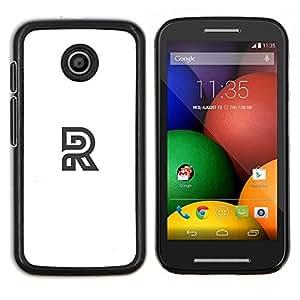 TECHCASE---Cubierta de la caja de protección para la piel dura ** Motorola Moto E ( 1st Generation ) ** --R logo blanco