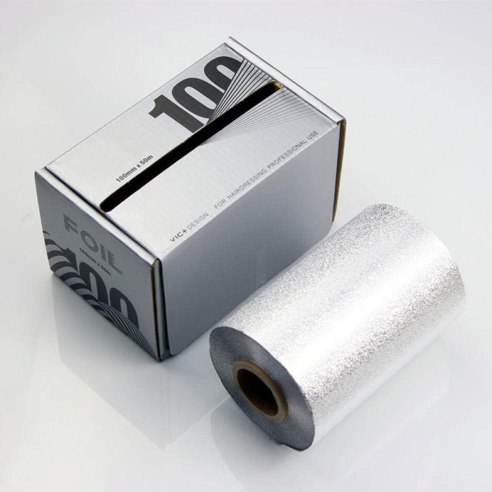 HZYH Papel De Aluminio 50 M * 10 Cm Peluquería Tinte De ...