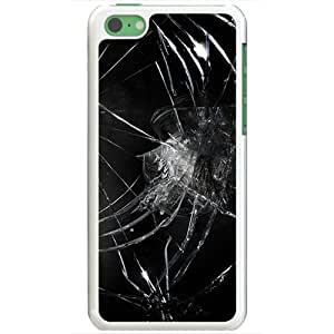 Apple iPhone 5C Cases Customized Gifts Of 3D Graphics Broken Black Glass 3d Abstract White