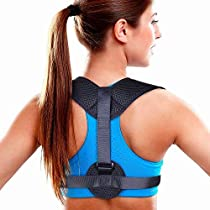 Yomitek Back Posture Corrector for Women & Men -Comfortable Upper Back Brace,Clavicle Support Adjustable Brace for Slouching & Hunching-Relief Back & Shoulders Pain