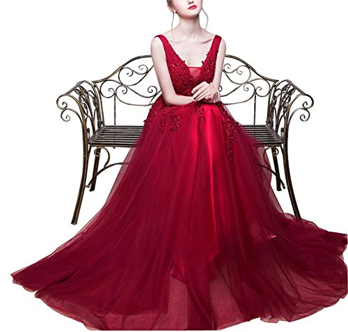 CoutureBridal - Vestido - Noche - para mujer borgoña