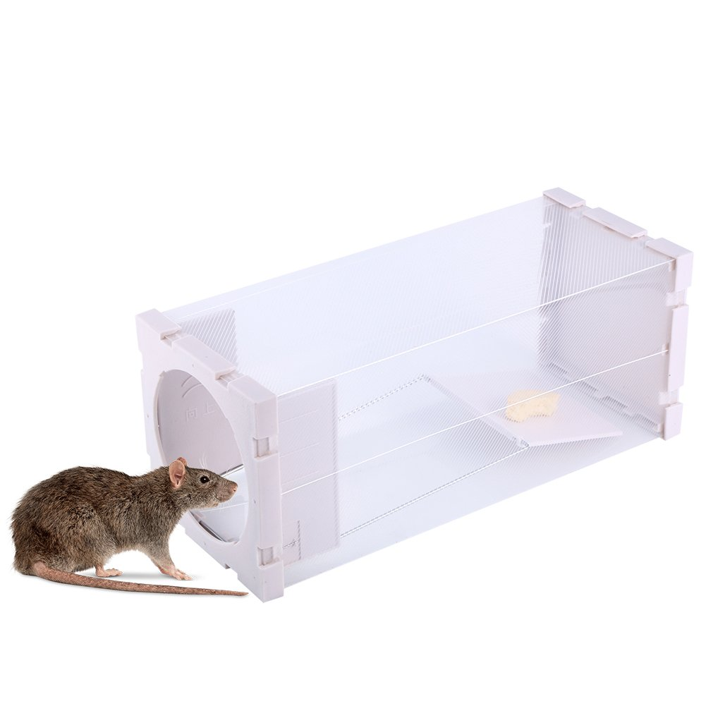 Humana Rata Trampa Jaula Animal Vivo Catcher Ratón Pest Roedor Control No Kill No Contaminación Yosoo