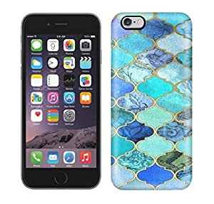 Running Gary Aqua & Gold Decorative Moroccan Tile Pattern Art Hard Phone Case For Iphone 6 Plus