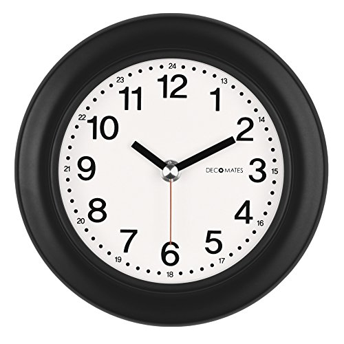 DecoMates Non-Ticking 24-Hour Silent Wall and Desk Clock, ()
