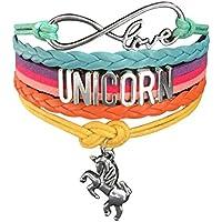Doctor Unicorn - Cute Unicorn Bracelet Wristband Handmade Rainbow Jewelry Infinity Love Charm Gifts 17 Styles