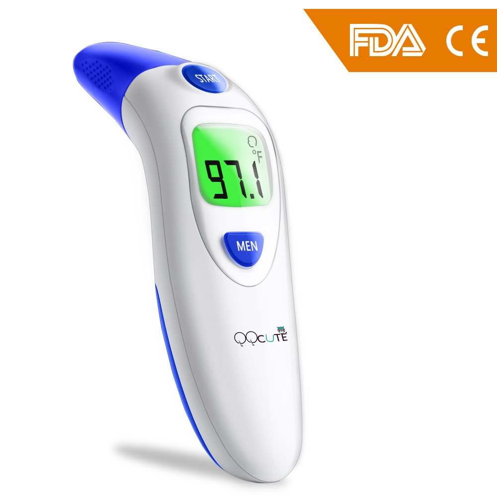 Digital Infrared Baby Forehead Thermometer with Ear Function More Accurate Medical Fever Body Basal Thermometers Suitable for Infant Kid Adult - FDA and CE Approved