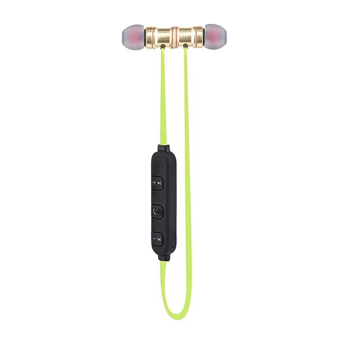 Sunvito Deporte V4.1 de Bluetooth Auricular, Ligero Nuca Sudor Auriculares Estéreo Inalámbricos con Mic para Llamadas de Manos Libres y Magnética Atracción ...