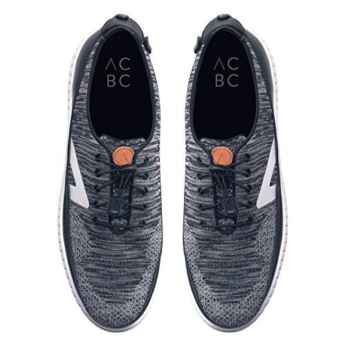 Nera Knit Rosso Sneakers Scarpa Bianca con e con Scarpa Zip Suola Stringa ACBC qzIxgwCC