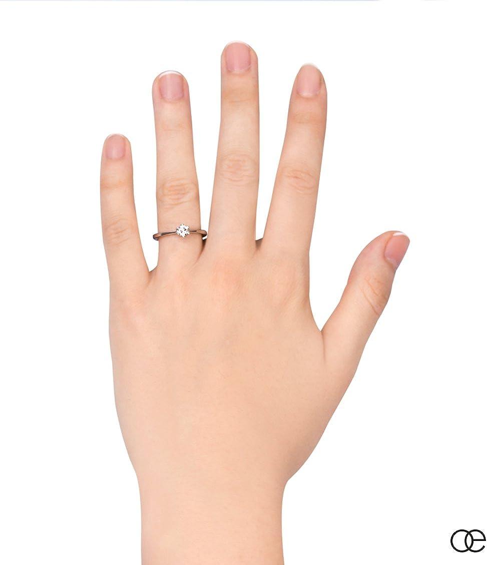 Moncoeur Anillo-Compromiso Solitario Eternite es La Belleza Cl/ásica de Pedida de Mano de Plata 925 y Circonita en AAA Calidad y con El Caso de Lujo Gratis y Corte Redondo Para La Comodidad