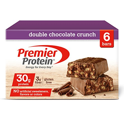 - Premier Protein 30g Protein Bar, Double Chocolate Crunch, 2.53 oz Bar, (6 Count)