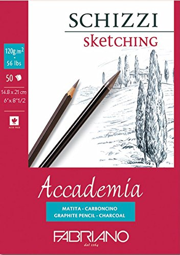 Fabriano Accademia Sketching Pad 120 GSM A5 Paper at amazon