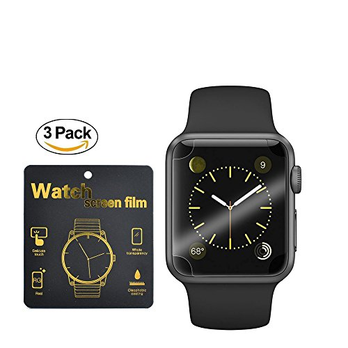 Apple iwatch 42mm Smart Watch Screen Protector,MaxDemo [3Pack] [Scratch Resistant][Anti-Bubble] Screen Protector for Apple Watch 42mm (Series 1/Series 2)