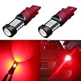 Alla Lighting 1000 Lumens 3030 36-SMD Extremely Super Bright Pure Red 3057 3056 T25 3157 3156 LED Bulb High Power LED Brake Stop Tail Lights Bulb Lamps Replacement