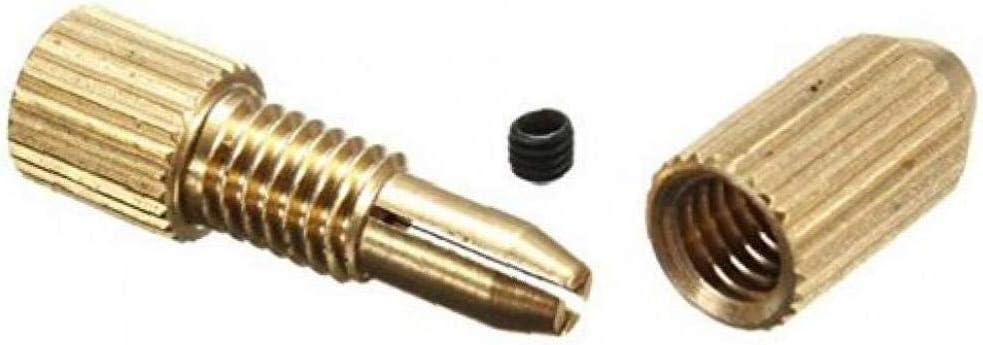 AYRSJCL 1Pc 2,3mm Laiton Moteur /électrique Arbre de Serrage Fixture Chuck Mini Petit pour 0.7mm-1.4mm Drill Micro M/èche Pince Fixture Chuck