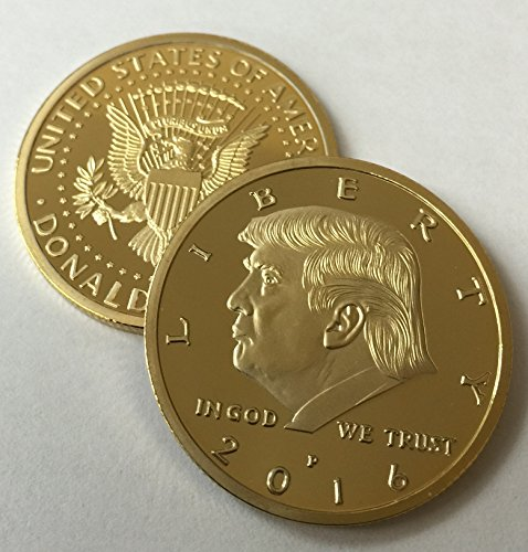 2016 Collectors - Donald Trump 2016 24kt Gold Plated EAGLE Presidential Commemorative Coin 30mm by Aizics Mint