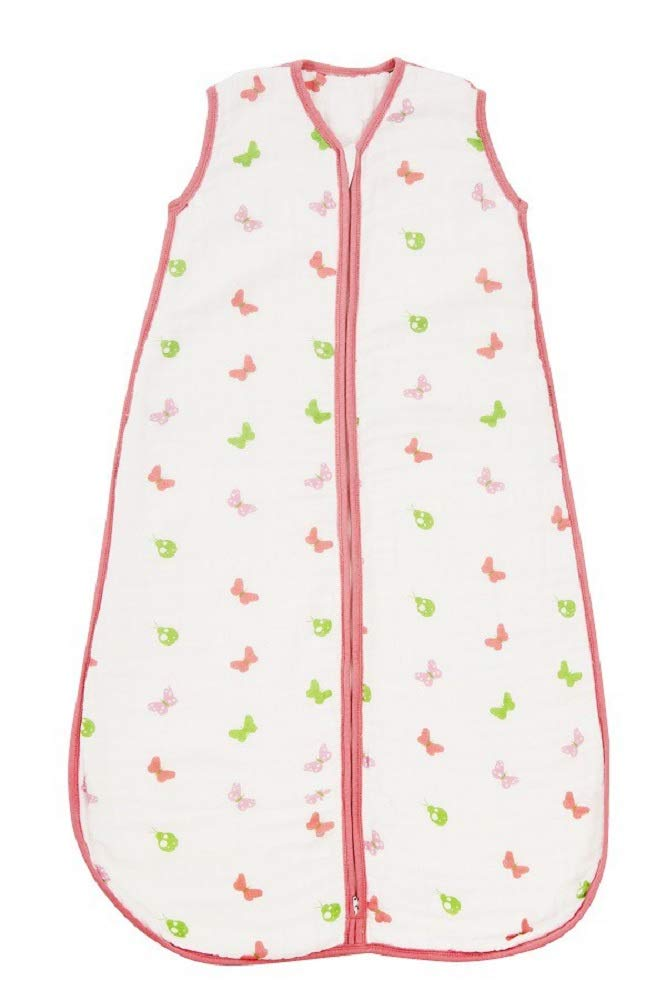Slumbersac Summer Baby Sleeping Bag 0.5 Tog Muslin Mint Owl 6-18 months//90cm