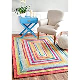 Cheap D&H 4'1″ x6′ Kids Red Blue Yellow Endless Rainbow Doorways Printed Area Rug, Indoor Graphical Pattern Living Room Rectangle Carpet, Graphic Art Themed, Soft Synthetic Material, Fancy Rich Textures