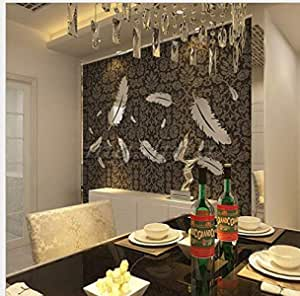 Creative 3D Acrylic DIY Feather wall sticker creative crystal home living room background decoration mm