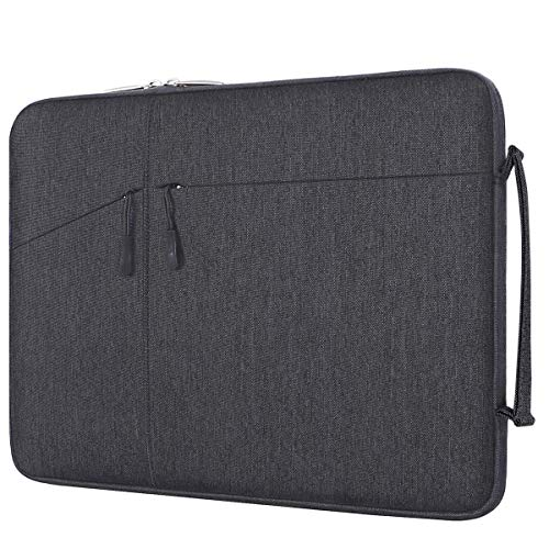 MOSISO Laptop Briefcase Handbag Compatible 13-13.3 Inch MacBook Pro, MacBook Air, Notebook Computer, Water Repellent Polyester Ultraportable Protective Handle Carrying Sleeve Case Cover Bag,Space Gray