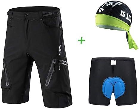 Borvelo Conjunto Pantalones MTB: Pantalones de Ciclismo MTB ...