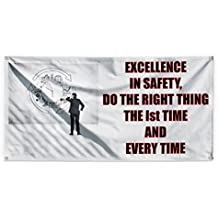 Do The Right Thing Every time - Safety Outdoor Advertising Printing Vinyl Banner Sign With Grommets - 4ftx8ft, 8 Grommets