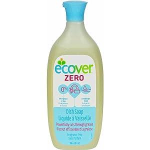 Ecover Fragrance Free Zero Dishwashing Liquid Soap, 25 Fluid Ounce - 6 per case.