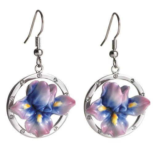 Iris Flower Earrings by Franz Collection