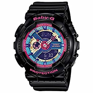 51VmulYIUYL. SS300  - Casio BA112-1A Baby-G Multicolor Dial Black Resin Multi Quartz Woman's Watch