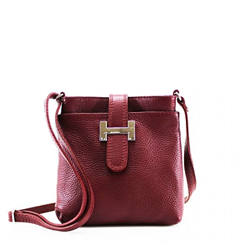 GREEN Bags Holiday Cross For Body Burgundy Small LeahWard Leather Women Women's Handbag Real Messenger 0IH76