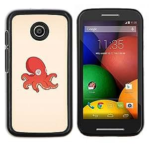 Pulpo Calamar juguete- Metal de aluminio y de plástico duro Caja del teléfono - Negro - Motorola Moto E / XT1021 / XT1022