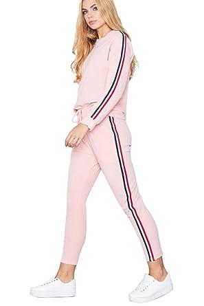 e748d12f75 Miss Floral® Women's Side Striped Tracksuit 2 Piece Set 5 Colour Size 6-16