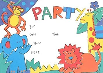 Amazon kids zoo invitations fill in style 8 pack toys games kids zoo invitations fill in style 8 pack stopboris Image collections