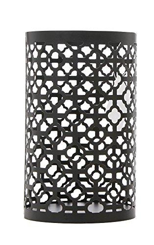 Hosley's Large Black Geometric Jar Candle Holder Sleeve, LED Lantern Ideal Gift for Weddings, Party, Spa, Aromatherapy, Votive Candle Garden BWNOOP1 O7