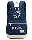 Siawasey Anime Fairy Tail Cosplay Luminous Backpack Daypack Bookbag Shoulder Bag School Bag (Dark Blue 1)