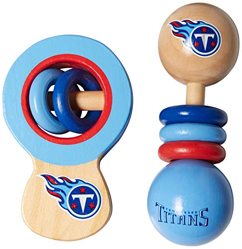 MasterPieces Tennessee Titans Wooden Baby Rattle Set