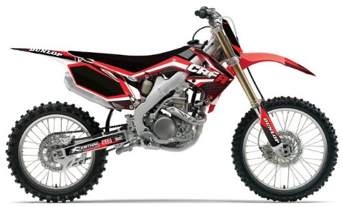 FLU Designs F-10064 TS1 Complete Graphic Kit for Honda CRF250R (Ts1 Complete Body)