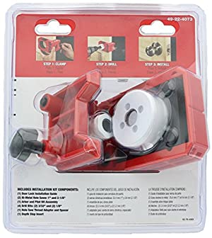 Milwaukee 49-22-4073 Polycarbonate 1-3/8 - 1-3/4 Door Lock and Deadbolt Installation Kit with Included Hole Saw, Auto-Centering Guide and Non-Slip Clamp (Drill / Driver Not Included) (Color: Black, Brass, Red, White, Tamaño: Pack of 1)