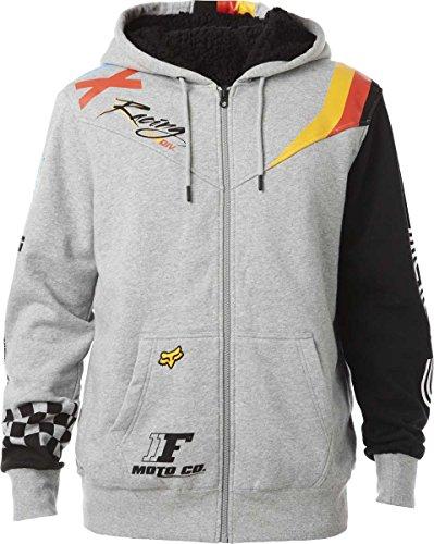 Fox Racing Mens Rohr Sherpa Fleece Hoody Zip Sweatshirt L...