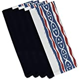 E By Design Ikat Ribbon Stripes Print Napkin, 19'' by 19'', Bewitching