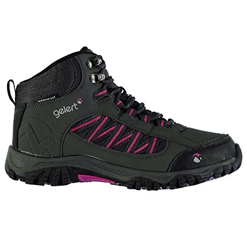 Gelert Womens Horizon Mid Waterproof Walking Boots Breathable Lace Up Shoes  Charcoal UK 4 37