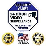Video Surveillance Sign - CCTV Security Alert - 24