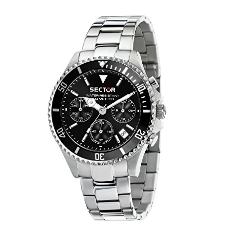 SECTOR Men's '230' Quartz Stainless Steel Casual Watch, Color Silver-Toned (Model: R3253161016)