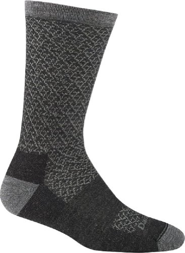 Darn Tough Vermont Women's Lattice Crew Light Cushion Hiking Socks, Charcoal, Medium