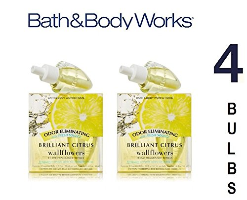 Bath and Body Works Brilliant Citrus Wallflowers Refill Twin Pack Set of ()