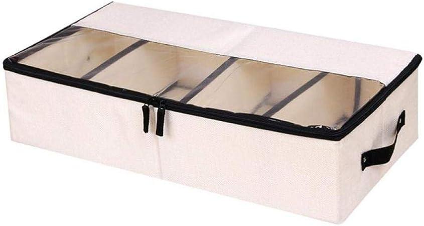 Cajas de almacenaje Cajas y arcones de almacenaje Caja de almacenamiento lavable plegable de lino de