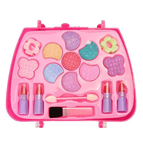 Ladiy Girls Make-Up Box Princess Traveling Cosmetic Pretend Play Toy Set for Kids Gift