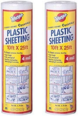 e520393e85 Warp Brothers SP-4CH10-C 4 Mil Carry Home Coverall Clear Plastic Sheeting