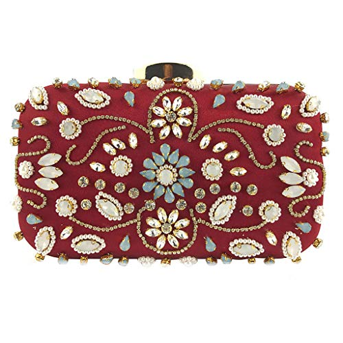 Clutch Purses for Women, Geetobby Womens Crystal Beaded Evening Bag Wedding Sparkling Clutch Purse