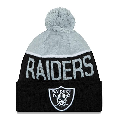 New Era Embroidered Beanie - New Era Oakland Raiders Nfl Knit Beanie Black One Size